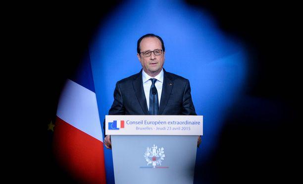 Ranskan presidentti Francois Hollande Brysselissä torstaina.
