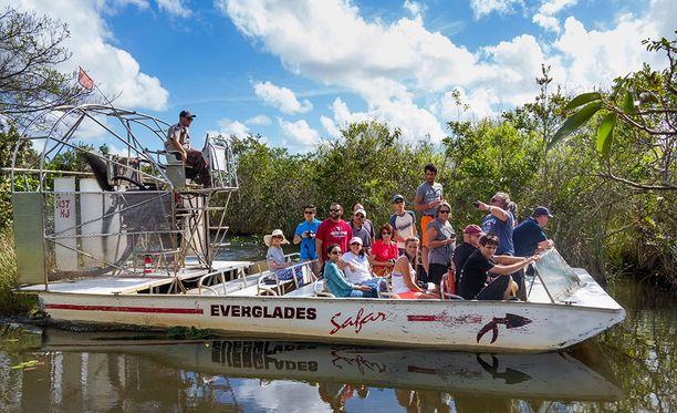 Evergladesin kansallispuisto on suosittu turistikohde.