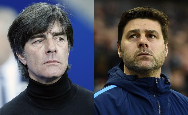 Joachim Löw (vas.) ja Mauricio Pochettino ovat Marcan mukaan Real Madrid -johdon suosikit uudeksi päävalmentajaksi.