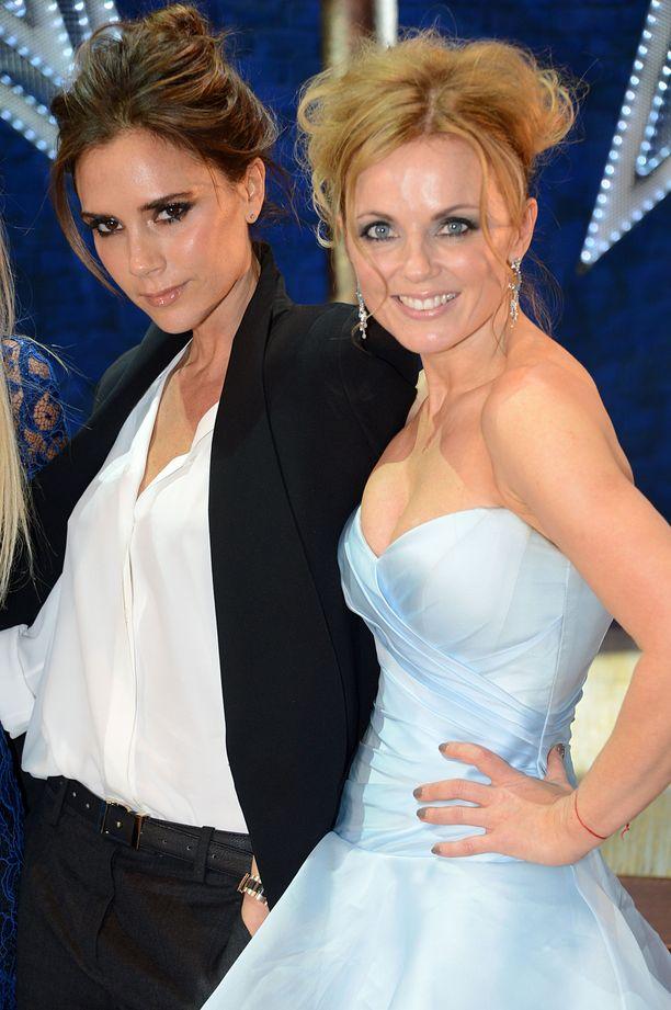 Victoria Beckham ja Geri Halliwell yhteiskuvassa vuonna 2012.