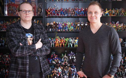 """Ristolla ja Artolla on satoja lelufiguureja - yhden kokoelman arvo kymmeniätuhansia: """"He-Man oli ensimmäinen miehen malli"""""""