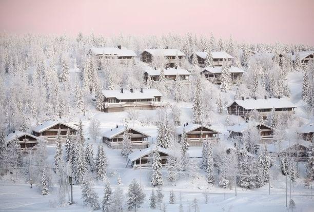 Vuokramökkejä löytyy vielä suurten hiihtokeskustenkin tuntumasta.