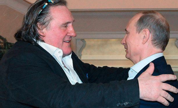 Gerard Depardiue ja Vladimir Putin tapasivat Sotshissa tammikuussa 2013.