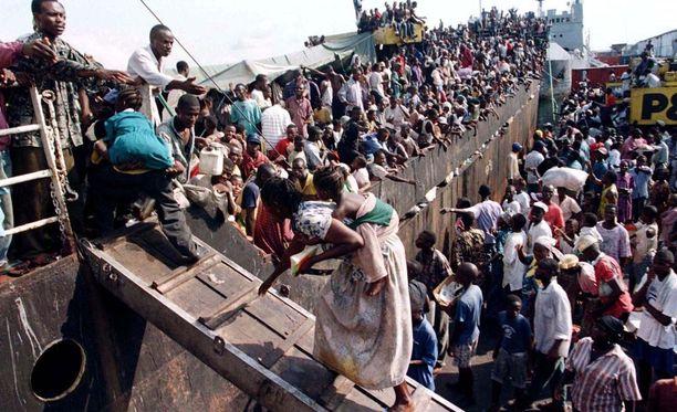 Monet liberialaiset joutuivat pakenemaan kotimaastaan sisällisodan aikana.