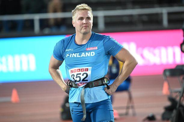 Toni Kuusela jäi kolmanneksi maaottelussa.