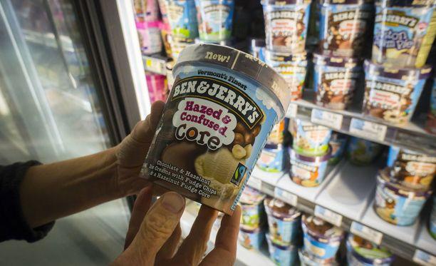Ben Jerry's on yhdysvaltalainen jäätelömerkki, jonka tuotteita on myynnissä Suomessakin.