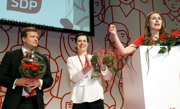 Suomessa syntyy SDP:n varapuheenjohtajan Ville Skinnarin mielestä liian vähän työpaikkoja pieniin mikroyrityksiin talouden kasvusta huolimatta. Kuva SDP:n puoluekokouksesta Lahdesta, jossa Skinnari valittiin SDP:n kolmanneksi varapuheenjohtajaksi.