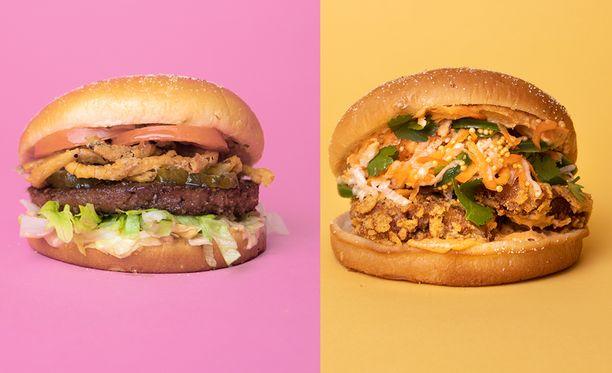 Naughty BRGR:n vegaaniset uutuudet Beyond Vegan BRGR ja Aussie BRGR.