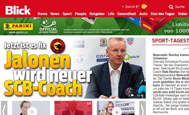 Blick uutisoi tänään, että Kari Jalonen on allekirjoittanut sopimuksen SC Bernin kanssa.