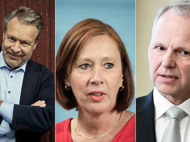Ilkka Kanerva, Sirpa Paatero ja Jari Leppä ovat saaneet eniten kokouspalkkioita Veikkaukselta.