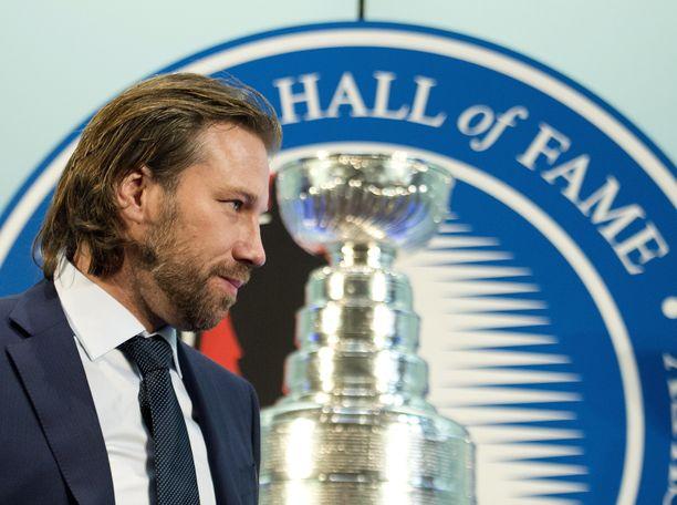 Peter Forsberg valittiin jääkiekon Hall of Fameen vuonna 2014.