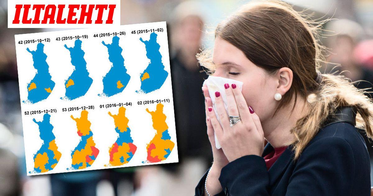 Influenssa 2021 Kartta