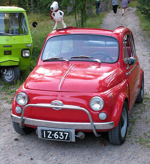 PUNAINEN PAHOLAINEN Fiat 500 1962