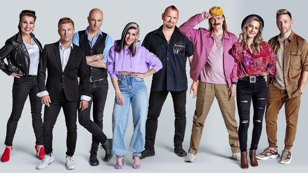 Tässä ovat uuden Vain elämää -kauden tähdet. Mukana ovat Ressu Redford, Jannika B, Reino Nordin, Arja Koriseva, STIG, Vesku Jokinen, Mariska ja Herra Ylppö.
