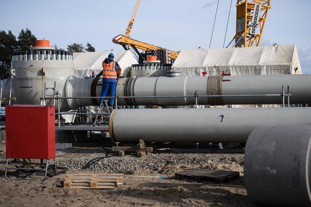 Nord Stream 2 kulkee Venäjän Viipurista Saksan Lubminiin.