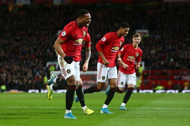 Anthony Martial tuuletti Manchester Unitedin 3-0-johtoa.