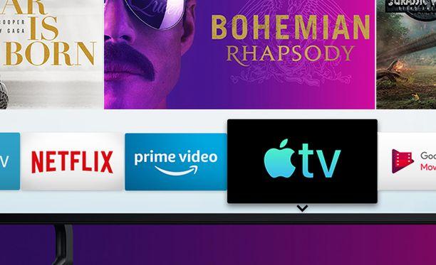 Uusimmat Samsungin televisiot päivittyvät Apple-tuella.