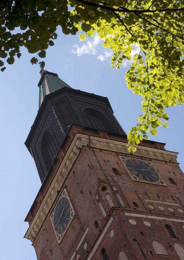 Turun tuomiokirkko on suurimmaksi osaksi rakennettu keskiajalla.