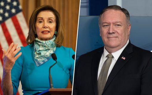 Presidentti Pelosi vai presidentti Pompeo? Koronan leviäminen Valkoisessa talossa voisi johtaa tiukkaan taistoon vallasta