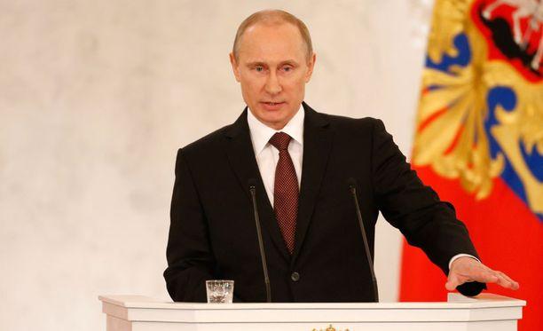 Putin puhui yli 50 minuuttia parlamentille Moskovassa.