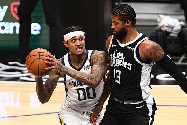 Jordan Clarkson (vas.) on edustanut Utah Jazzia vuodesta 2019 lähtien.