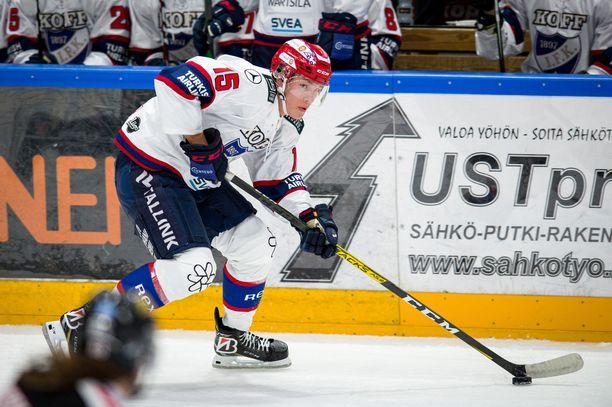 HIFK:n Anton Lundell on pelannut jo 84 SM-liigaottelua, joissa hän on tehnyt tehot 20+28=48.