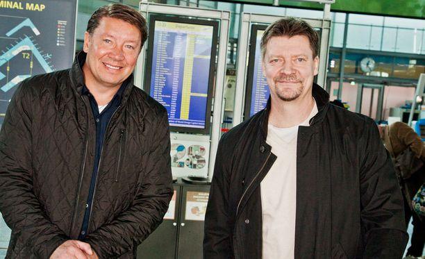 Jari Kurri ja Jukka Jalonen työskentelivät yhdessä jo Leijonissa.