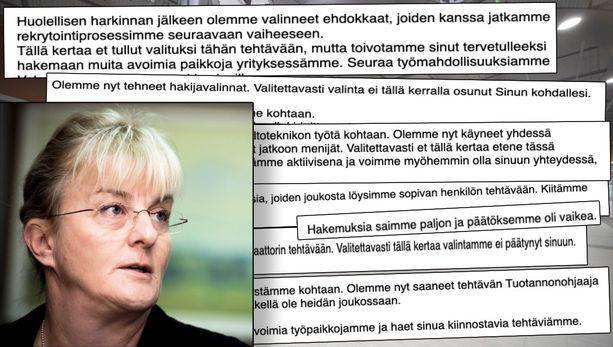 Insinööri-Mika on hakenut sadoittain työpaikkoja, mutta heikoin tuloksin. Ministeri Pirkko Mattila ei ota kantaa suoraan Mikan tapaukseen.