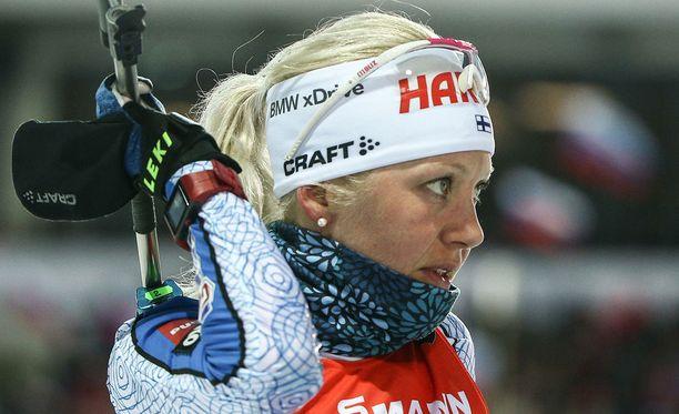 Kaisa Mäkäräinen kilpailee maailmancupin kokonaiskisan voitosta ja saa tukea myös venäläiskatsojilta.