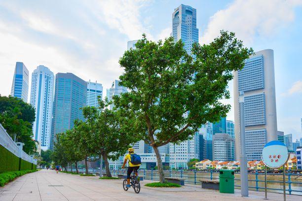 Suomalaismies ajoi polkupyörällä miehen päälle Singaporessa. Kuvituskuva.