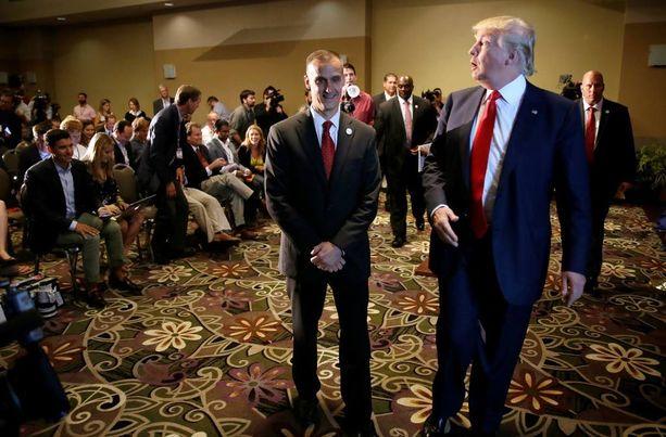 Trumpin kampanjapäällikkö Corey Lewandowski on saanut paljon ei-toivottua huomiota viime viikkoina.