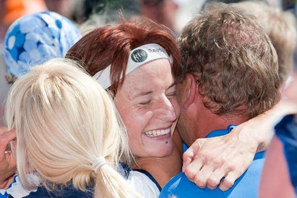 Viimeksi Merja Rantanen juhli MM-mitalia vuonna 2011, kun Suomi voitti viestin kultaa.