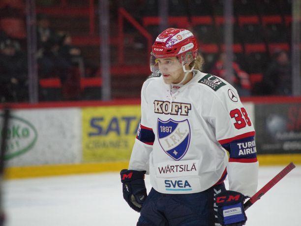 Wiljami Myllylä sai peliaikaa alle viisi minuuttia.