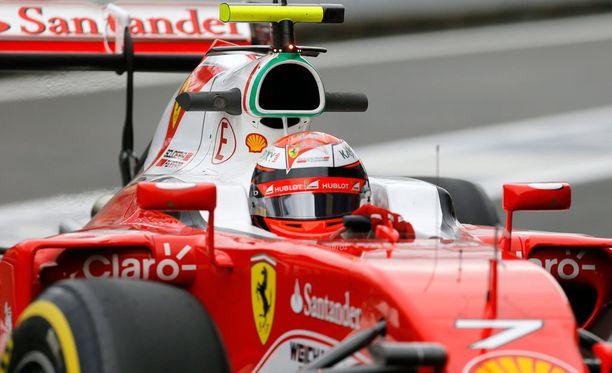 Kimi Räikkönen teki harmittavan virheen.