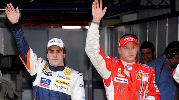 Fernando Alonso ja Kimi Räikkönen starttaavat eturivistä.
