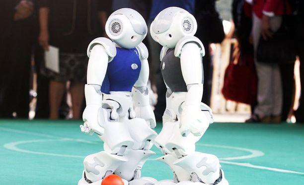 Jalkapalloa pelaavia robotteja V Future Congress -tapahtumassa Chilessä tammikuussa 2016.