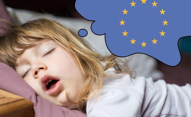 Iltasatu tietosuojauudistuksesta on hyvää unilääkettä. Kuvituskuva.
