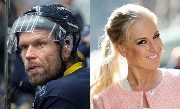 Huippukiekkoilija Jere Karalahti tienasi selvästi enemmän kuin vaimonsa Nanna Karalahti.