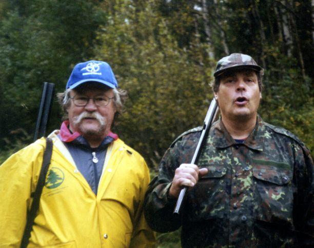 Jorma Kinnunen (vas.) ja Pauli Nevala olivat ystäviä vuosikymmenten ajan.