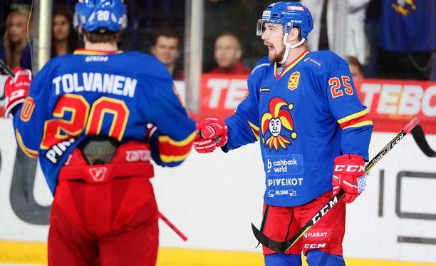 Pekka Jormakka junaili Spartakia vastaan tehot 3+1.