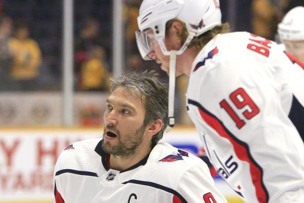 Aleksandr Ovetshkin ja Nicklas Backström johdattivat Washington Capitalsin Stanley Cupin mestariksi vuonna 2018.