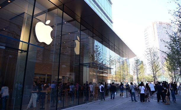 Applen liike Hangzhoun kaupungissa Kiinassa. Kuvituskuva.