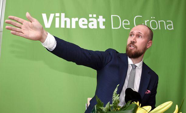 Touko Aalto luottaa vihreiden menestykseen.