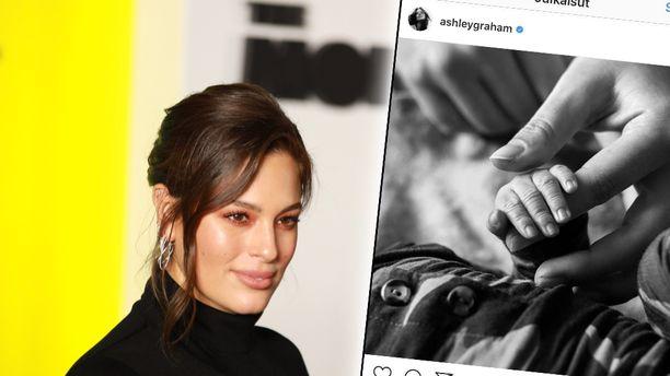 Ashley Graham julkaisi varhain tiistaina Suomen aikaa kuvan tammikuussa syntyneestä poikavauvastaan.