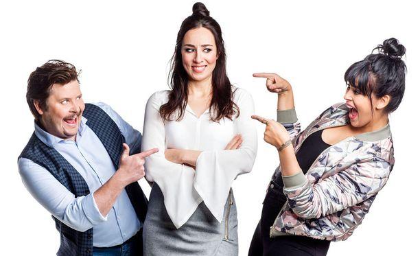 Janne Kataja, Anni Hautala ja Sara Forsberg tähdittävät uutta viihdeshow'ta.