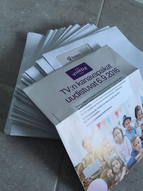 Sonera lähetti eräälle asiakkaallee 55 samanlaista kanavapaikkauudistuksesta kertovaa kirjettä.