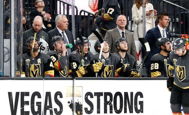 Vegas Golden Knights hävisi ensimmäisen ottelunsa pudotuspeleissä. Arkistokuva.