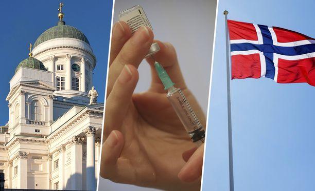 Norjassa on muutettu rokotejärjestystä sen mukaan, missä koronaepidemia riehuu.
