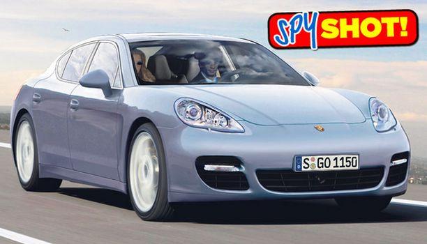 ISO PORSCHE Neliovinen Panamera on yksi BMW 8 -sarjan iskun kohteista. Panamera esittäytyy julkisesti ensi keväänä.