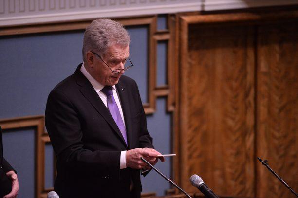 Presidentti Niinistö puhui keskiviikkona valtiopäivien avajaisissa.